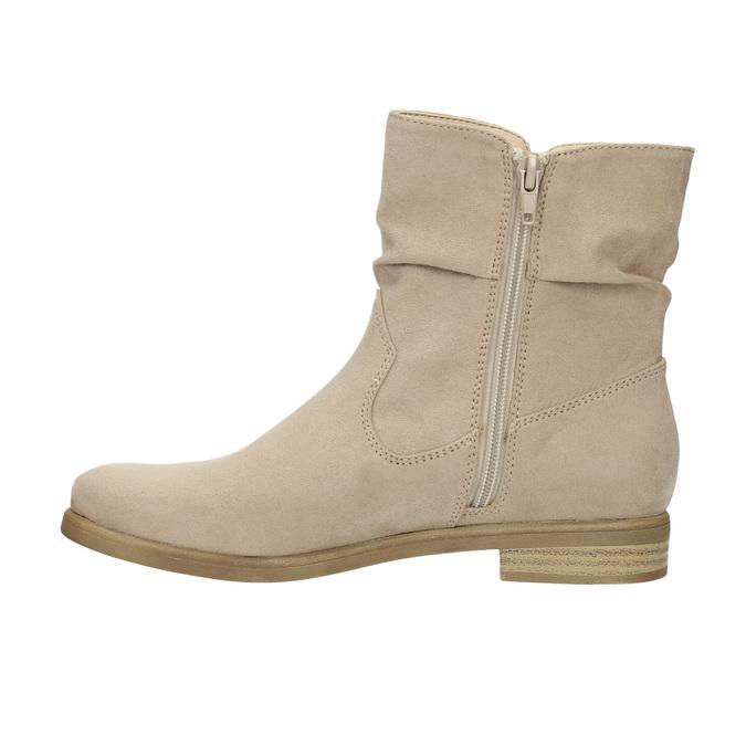 Botki damskie bata, beżowy, 599-8614 - 26