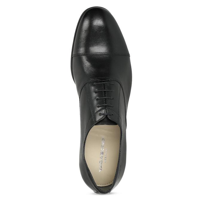 Czarne skórzane półbuty typu oksfordy vagabond, czarny, 824-6048 - 17