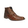 Skórzane buty za kostkę zzamkami błyskawicznymi bata, brązowy, 894-3684 - 13