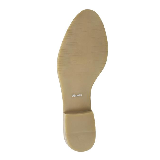 Czarne skórzane botki bata, czarny, 596-6633 - 26