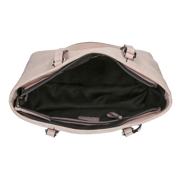 Różowa torba zperforacją bata, różowy, 961-5711 - 15