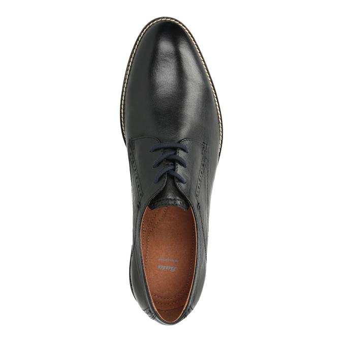Skórzane półbuty zpodeszwą wpaski bata, czarny, 826-6790 - 19