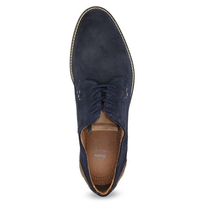 Skórzane półbuty zpodeszwą wpaski bata, niebieski, 823-9600 - 17
