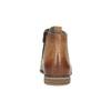 Skórzane botki zperforacją bata, brązowy, 596-4645 - 17