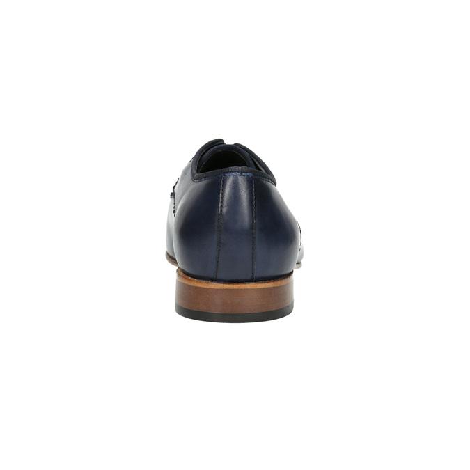 Niebieskie półbuty męskie ze skóry bata, niebieski, 826-9836 - 17
