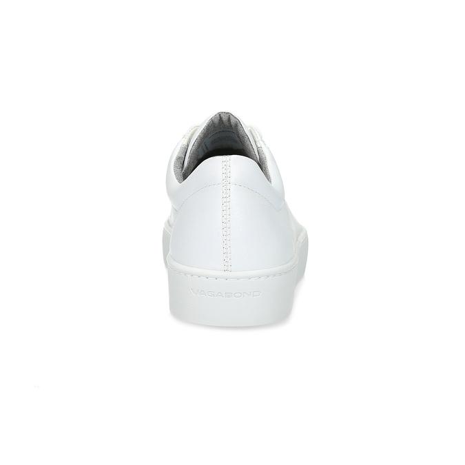 Białe skórzane trampki damskie vagabond, biały, 624-1019 - 15