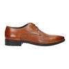 Brązowe skórzane półbuty typu angielki bata, brązowy, 826-3804 - 15