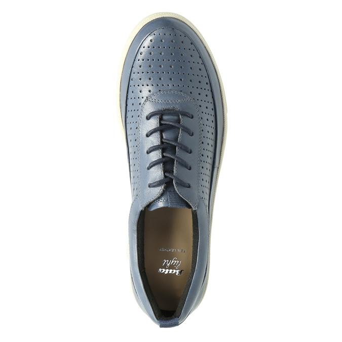 Niebieskie skórzane trampki damskie bata, niebieski, 526-9618 - 19