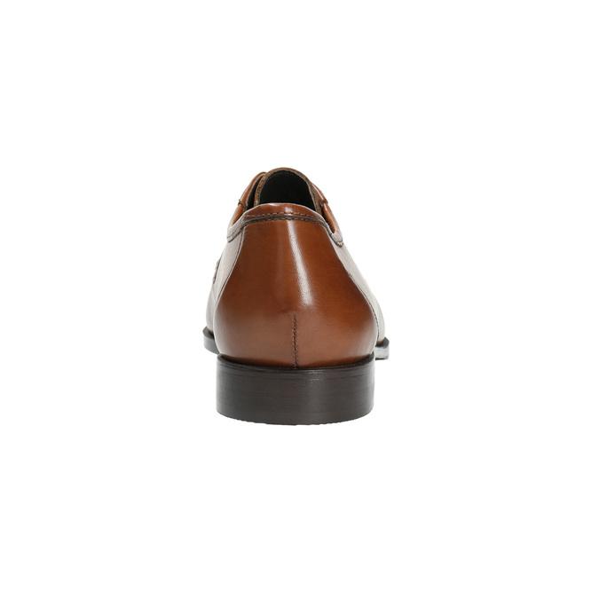 Skórzane męskie półbuty zwyrazistymi przeszyciami bata, brązowy, 824-4838 - 17