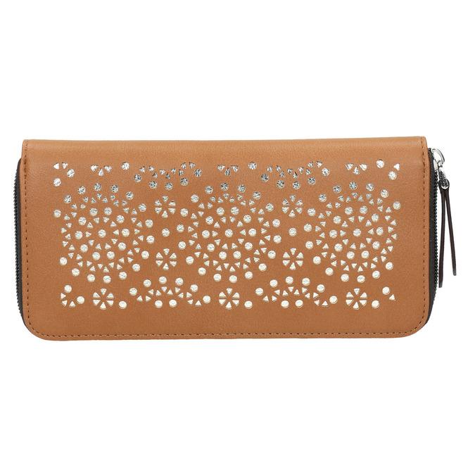 Brązowy portfel zperforacją bata, brązowy, 941-3154 - 19