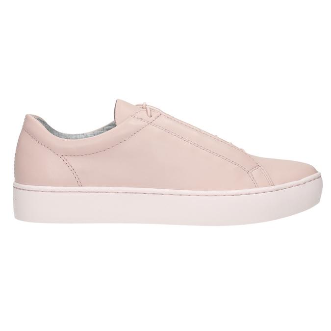 Różowe skórzane buty sportowe vagabond, różowy, 624-8019 - 15