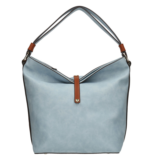 Błękitna torba wstylu hobo bata, niebieski, 961-9705 - 26