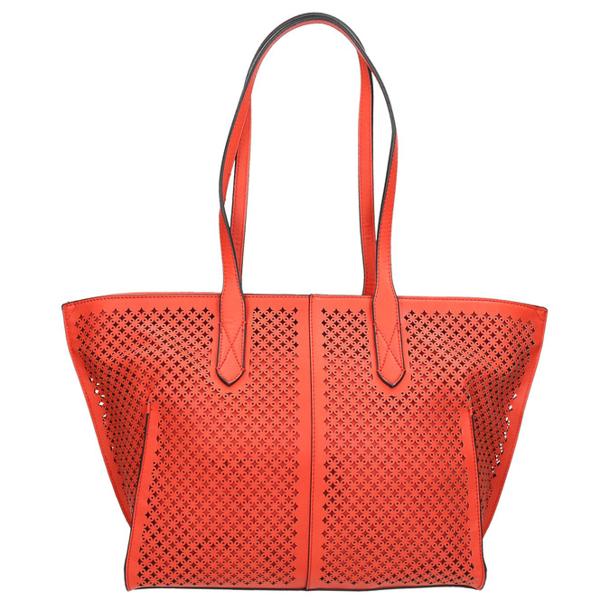 Czerwona perforowana torba gabor-bags, czerwony, 961-5080 - 19
