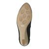 Skórzane czółenka na koturnie bata, czarny, 626-6638 - 26