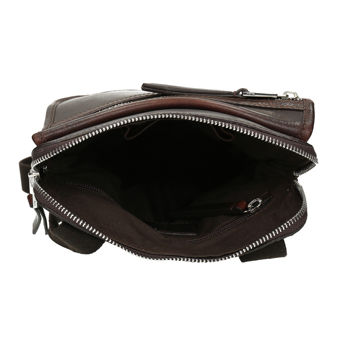 Skórzana torba typu crossbody bata, brązowy, 964-4237 - 15
