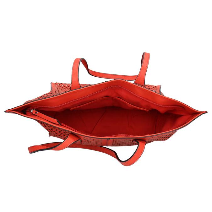 Czerwona perforowana torba gabor-bags, czerwony, 961-5080 - 15