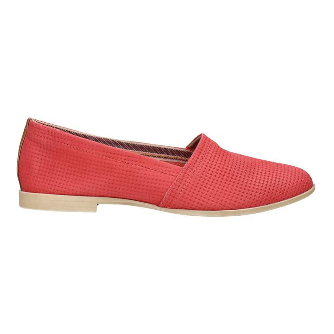 Czerwone slip-on ze skóry bata, czerwony, 516-5602 - 15
