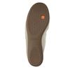 Skórzane baleriny zelastyczną lamówką bata, beżowy, 526-8617 - 26