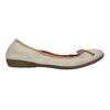 Skórzane baleriny zelastyczną lamówką bata, beżowy, 526-8617 - 15