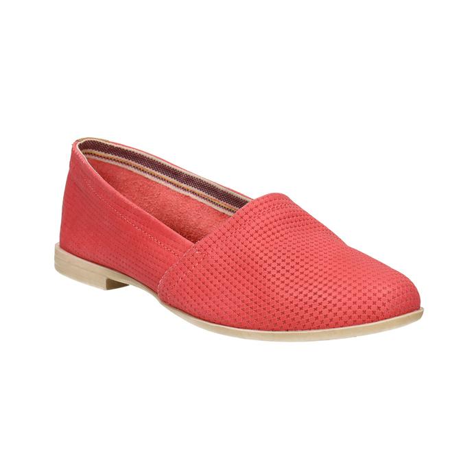 Czerwone slip-on ze skóry bata, czerwony, 516-5602 - 13