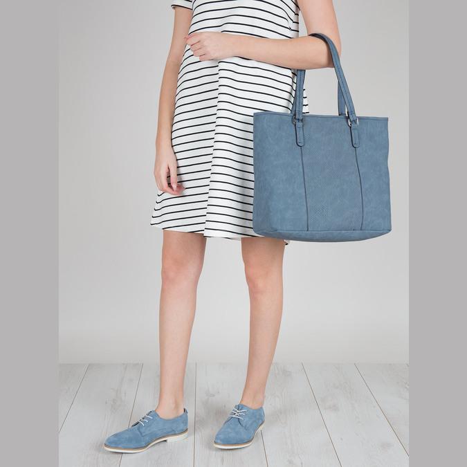 Niebieska torba zperforacją bata, niebieski, 961-9711 - 17