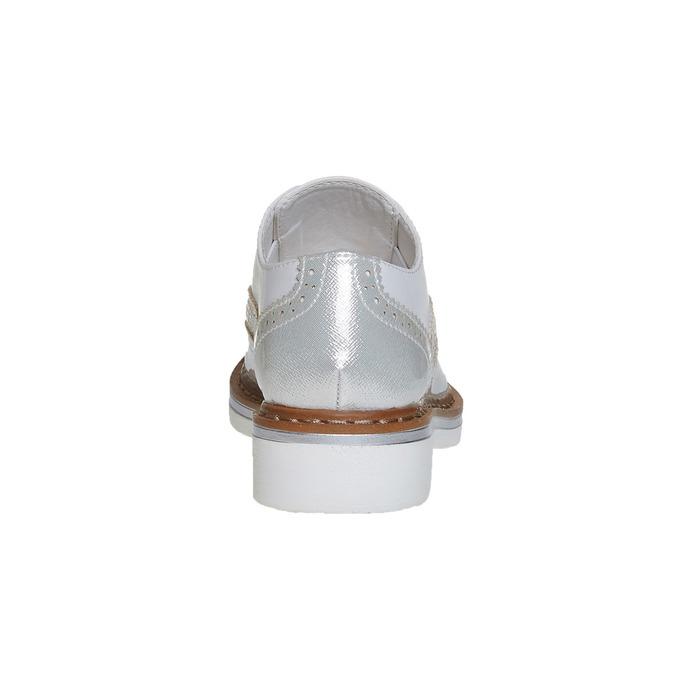 Półbuty dziecięce zkryształkami mini-b, srebrny, 321-2246 - 17