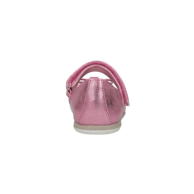 Różowe baleriny zpaskiem na podbiciu mini-b, różowy, 221-5179 - 17