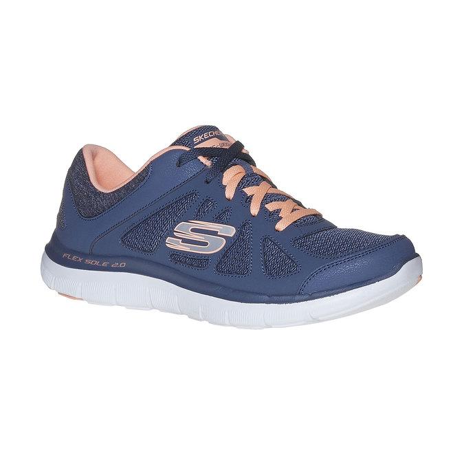 Sportowe trampki damskie skechers, niebieski, 509-9963 - 13