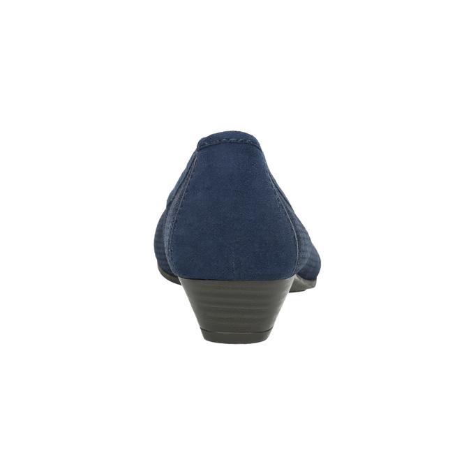 Skórzane czółenka oszerokościH bata, niebieski, 623-9601 - 17