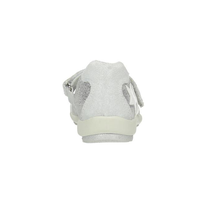 Baleriny dziecięce zpaskiem na podbiciu mini-b, biały, 421-1605 - 17