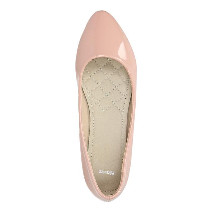 Lakierowane damskie baleriny bata, różowy, 521-5602 - 19