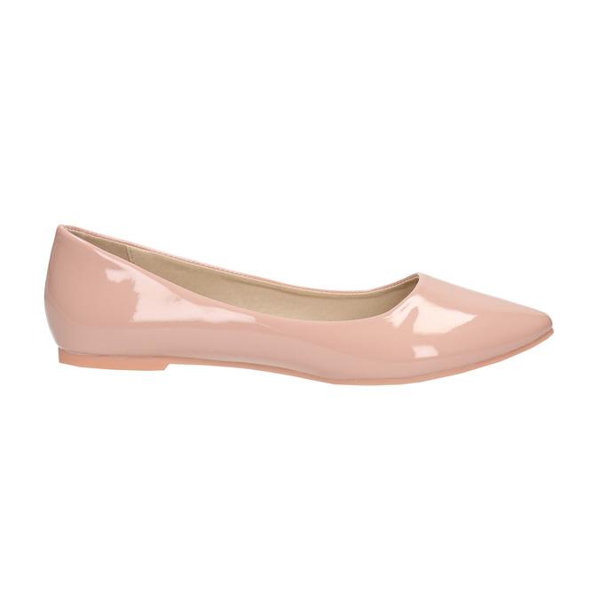 Lakierowane damskie baleriny bata, różowy, 521-5602 - 15