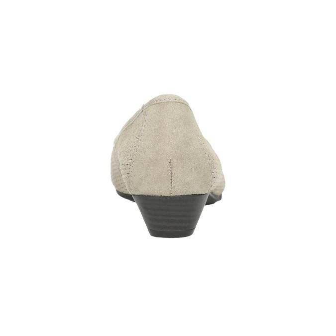 Skórzane czółenka oszerokościH bata, szary, 623-2601 - 17
