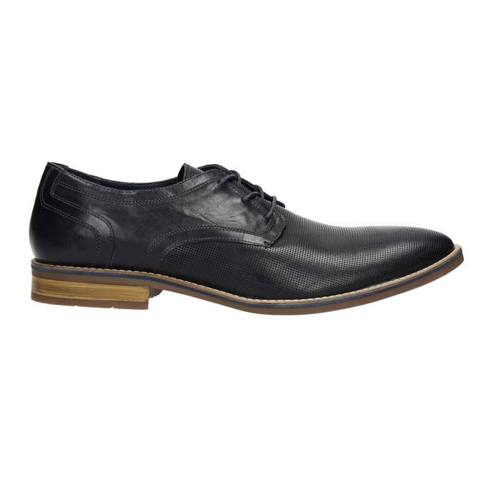 Nieformalne półbuty męskie ze skóry bata, niebieski, 826-9817 - 15