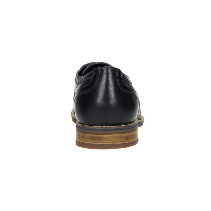 Nieformalne półbuty męskie ze skóry bata, niebieski, 826-9817 - 17