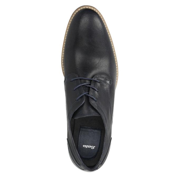 Nieformalne półbuty męskie ze skóry bata, niebieski, 826-9817 - 19