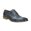Niebieskie półbuty ze skóry bata, niebieski, 826-9801 - 13