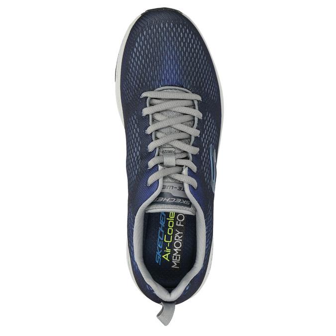 Trampki męskie zpianką zpamięcią skechers, niebieski, 809-9141 - 19