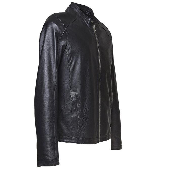 Męska kurtka skórzana bata, czarny, 974-6164 - 16
