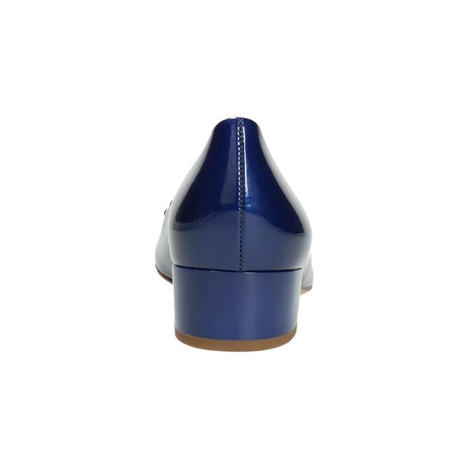 Skórzane czółenka zkokardą hogl, niebieski, 628-9400 - 17