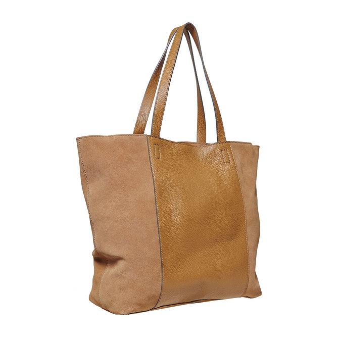 Brązowa skórzana torba damska bata, brązowy, 964-3185 - 13