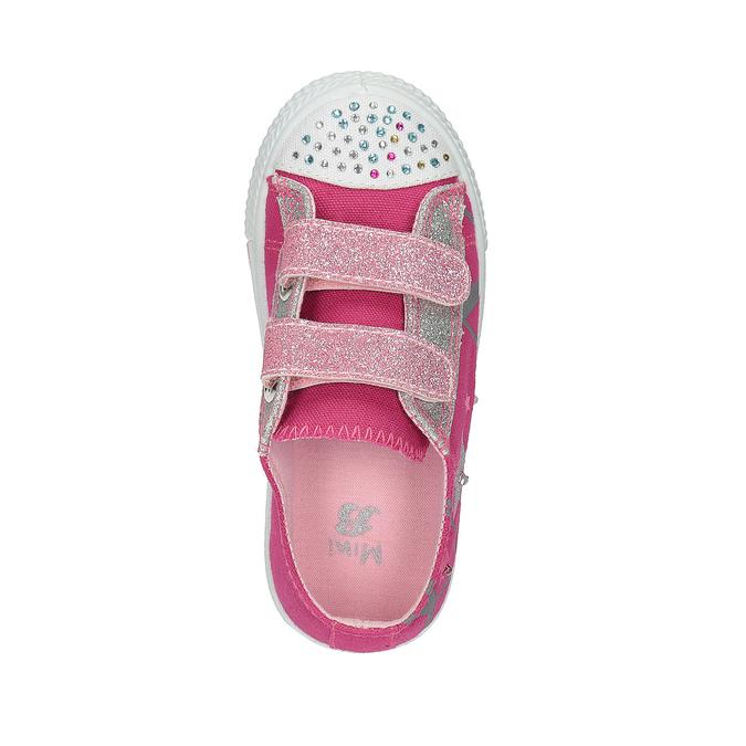 Różowe trampki dziewczęce mini-b, różowy, 229-5183 - 19