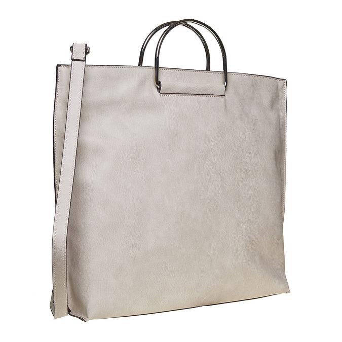 Kremowa torba damska bata, szary, 961-8327 - 13