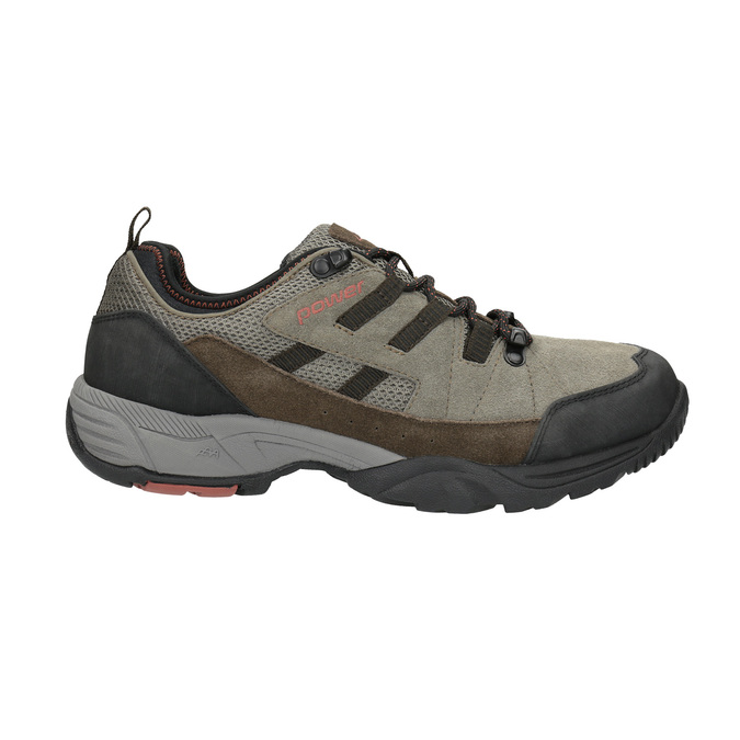 Skórzane buty w stylu outdoor power, brązowy, 803-4118 - 15