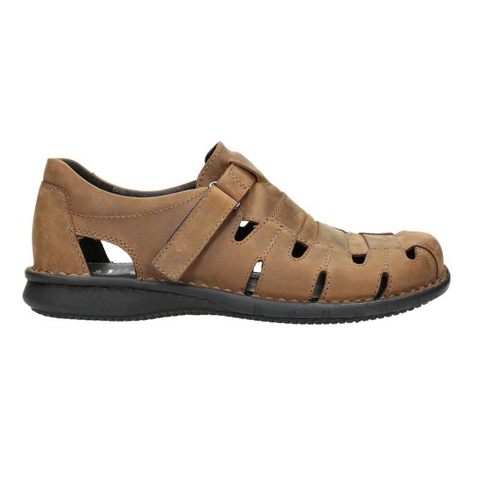 Brązowe skórzane sandały męskie bata, brązowy, 864-4600 - 15