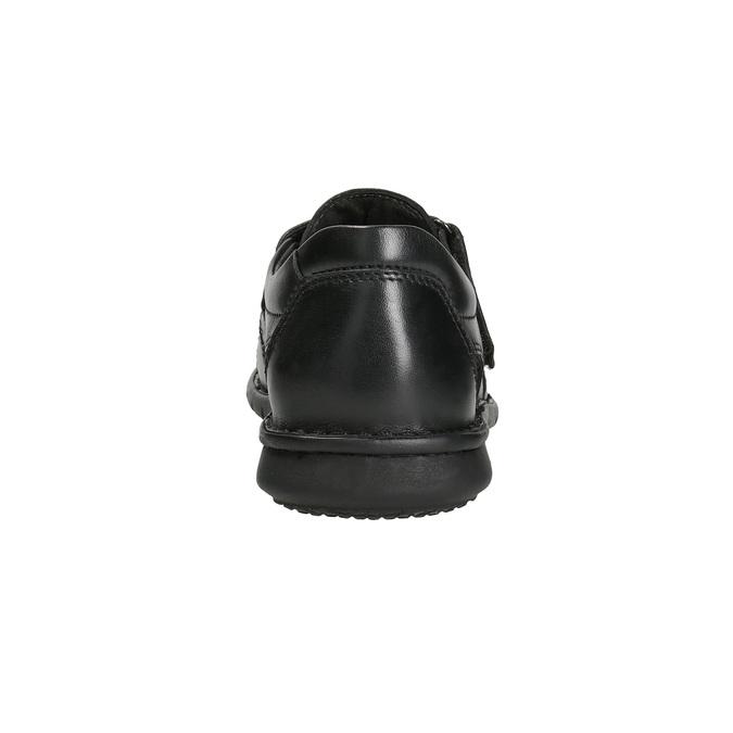 Czarne skórzane sandały męskie bata, czarny, 864-6600 - 15