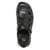 Czarne skórzane sandały męskie bata, czarny, 864-6600 - 17