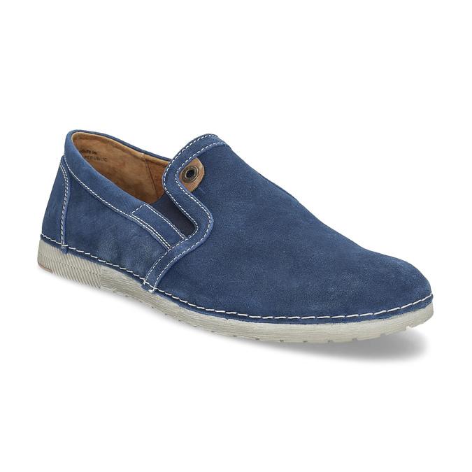 Zamszowe buty Slip-on weinbrenner, niebieski, 833-9601 - 13