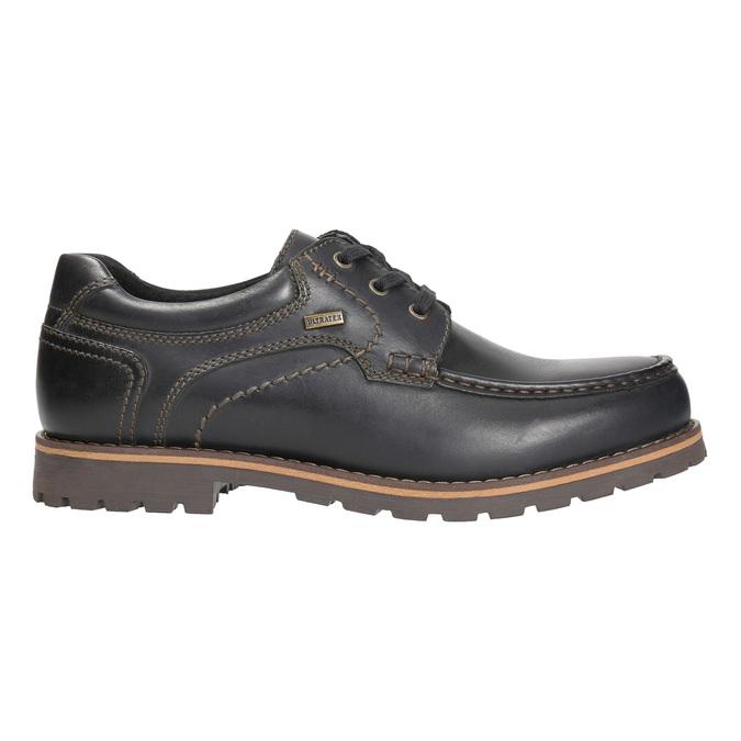 Skórzane półbuty z przeszyciami na nosku bata, brązowy, 826-6640 - 15