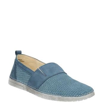 Niebieskie slip-on ze skóry weinbrenner, niebieski, 513-9263 - 13